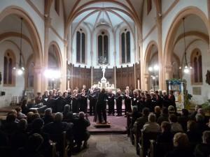La chorale Choeur et Passions à l'église de Senones