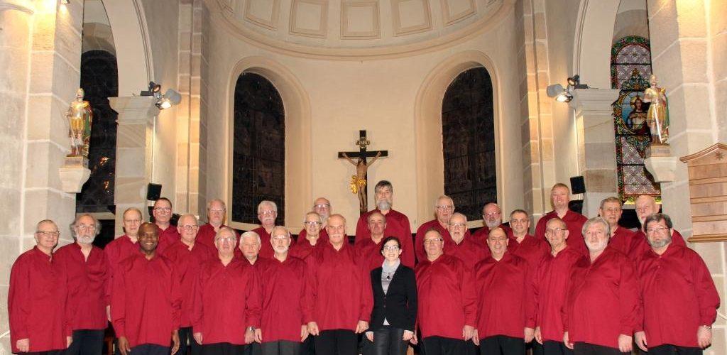 Le choeur des 3 Abbayes en février 2018 à GOLBEY (88)
