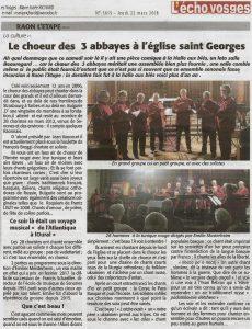 La presse évoque notre concert de RAON L'ETAPE