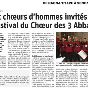 Article de Vosges Matin du jeudi 10 oct. 2019